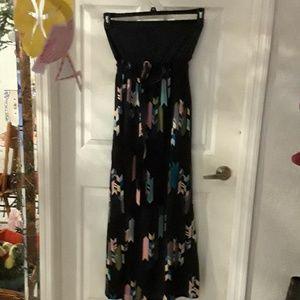 Beautiful maxi strapless dress,  size L juniors